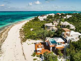 Aerial photo of Villa PL BCK (Beach Cake) at Grace Bay Turtle Cove, Turks & Caicos, Family-Friendly, Pool, 2 Bedroom, 2.5 Bathroom, WiFi, WIMCO Villas