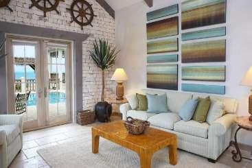 Living Room at Villa TNC CAL (Callaloo) at Grace Bay Turtle Cove, Turks & Caicos, Pool, 1 Bedroom, 1 Bathroom, WiFi, WIMCO Villas