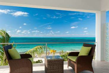 Terrace at Villa TNC OED (Ocean Edge - The Cottages at Grace Bay) at Grace Bay Turtle Cove, Turks & Caicos, Pool, 1 Bedroom, 1.5 Bathroom, WiFi, WIMCO Villas