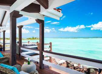 Terrace at Villa IE BAS (Bashert) at Chalk Sound/Taylors, Turks & Caicos, Family-Friendly, Pool, 3 Bedroom, 3 Bathroom, WiFi, WIMCO Villas