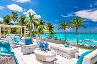 Patio at Villa PL SAL (Salacia) at Grace Bay/Leeward, Turks & Caicos, Family-Friendly, Pool, 6 Bedroom, 6.5 Bathroom, WiFi, WIMCO Villas