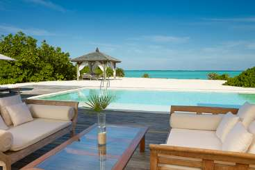 Deck at Villa TC PCCO (Como Villa at Parrot Cay) at Parrot Cay, Turks & Caicos, Family-Friendly, Pool, 3 Bedroom, 3 Bathroom, WiFi, WIMCO Villas