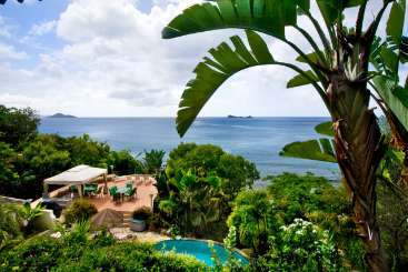 The view from Villa MAV SUN (Sunset Watch) at Beachside Nail Bay, Virgin Gorda, Pool, 2 Bedroom, 2 Bathroom, WiFi, WIMCO Villas