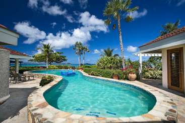 Villa Pool at Villa VG COM (Beachcomber) at Beachside Mahoe Bay, Virgin Gorda, Family-Friendly, Pool, 5 Bedroom, 5.5 Bathroom, WiFi, WIMCO Villas
