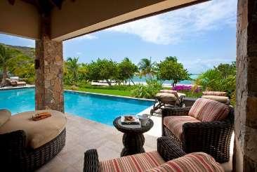 Villa Pool at Villa VIJ BEL (Bella Beach Villa at Oil Nut Bay) at Oil Nut Bay, Virgin Gorda, Family-Friendly, Pool, 6 Bedroom, 6 Bathroom, WiFi, WIMCO Villas