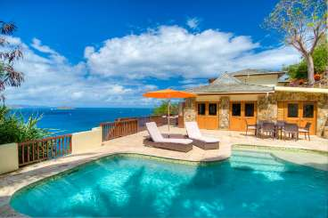 Villa Pool at Villa VIJ TBH (Turtle Bay House) at Hillside/Nail Bay, Virgin Gorda, Family-Friendly, Pool, 4 Bedroom, 5 Bathroom, WiFi, WIMCO Villas