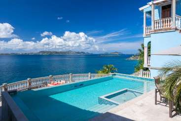 Villa Pool at Villa CT RHA (Rhapsody) at Great Cruz Bay, St. John, Family-Friendly, Pool, 5 Bedroom, 5.5 Bathroom, WiFi, WIMCO Villas