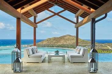 Terrace at Villa VIJ EDG (Waters Edge at Oil Nut Bay) at Oil Nut Bay, Virgin Gorda, Family-Friendly, Pool, 4 Bedroom, 4 Bathroom, WiFi, WIMCO Villas