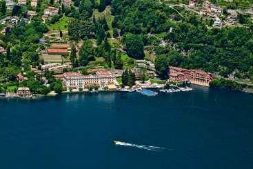 Aerial photo of Villa BRV GAR (Garrovo) at Lake Como, Italy, Family-Friendly, Pool, 6 Bedroom, 6 Bathroom, WiFi, WIMCO Villas