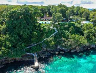 Aerial photo of Villa JAM FRN (Frangipani) at Ocho Rios, Jamaica, Family-Friendly, Pool, 4 Bedroom, 4 Bathroom, WiFi, WIMCO Villas