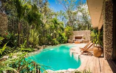 Villa Pool at Villa ML2 VER (Verde) at Tulum, Mexico, Family-Friendly, Pool, 4 Bedroom, 4 Bathroom, WiFi, WIMCO Villas