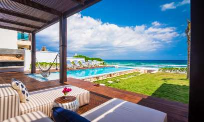 The view from Villa ML3 AMA (Amara) at Tulum, Mexico, Family-Friendly, Pool, 5 Bedroom, 5 Bathroom, WiFi, WIMCO Villas